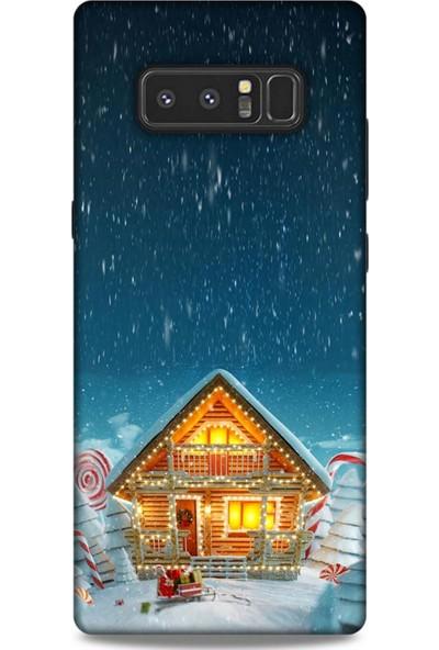 Lopard Samsung Galaxy Note 8 Kılıf Snowix (8) Baskılı Kılıf Lacivert