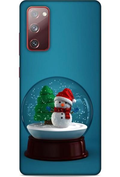Lopard Samsung Galaxy S20 Fe Kılıf Snowix (12) Koruyucu Silikon Yeşil Beyaz
