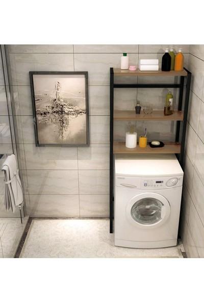 Coşar Group Çamaşır Makinesi Üstü Düzenleyici Raf Banyo Dolabı Rafı Makina Üstü Dolap Raf Ceviz