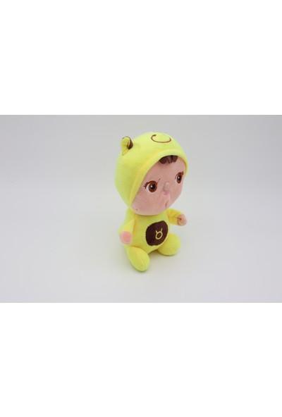 Mrc Sarı Elbiseli Sevimli Pelüş Oyuncak Bebek 20 cm