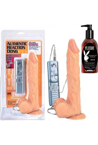 Arm Authentic Reaction Dong Realistik Penis ve Playboy Masaj Yağı