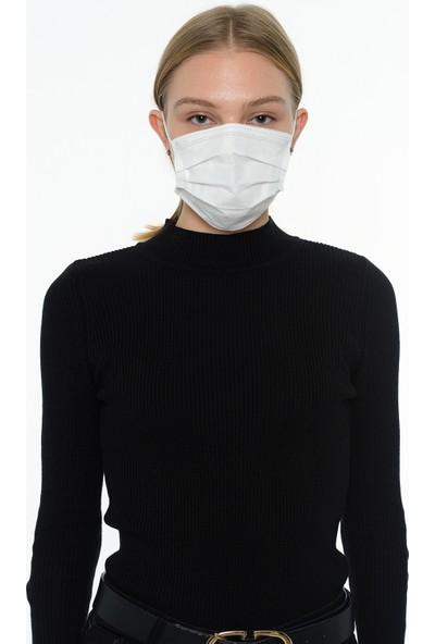 CRS Medical Textiles-Type IIR-3 Katlı Tek Kullanımlık Kafa Arkasından Lastikli Maske-100 lü kutu