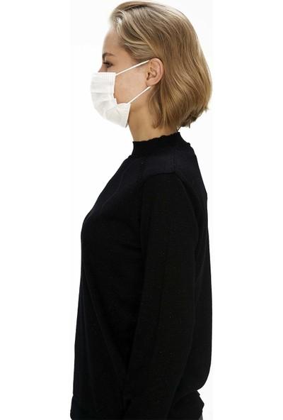 Crs Medical Textiles - Type Iır- 3 Katlı Tek Kullanımlık Lastikli Cerrahi Maske - 50 x 2'li Kutu