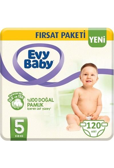 Evy Baby 5 Numara Bebek Bezi 11-18 kg Junior Fırsat Paketi 120'LI