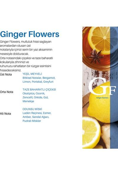 Akscent Ginger Flowers Tüm Koku Makinelerine Uyumlu Koku Makinesi Koku Kartuşu Esansı 250 ml