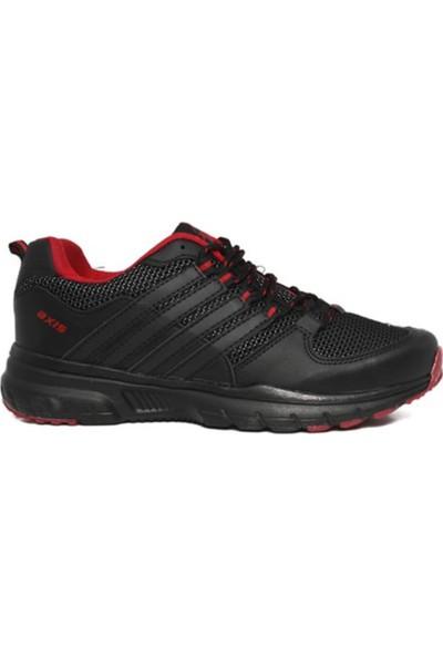 Axis Siyah Kırmızı Erkek Spor Ayakkabı