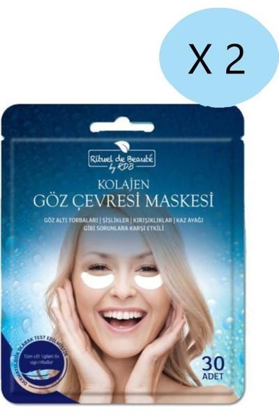 Rituel de Beaute Göz Çevresi Kırışıklık Şişkinlik Kaz Ayağı Giderici Maske 30 Lu x 2