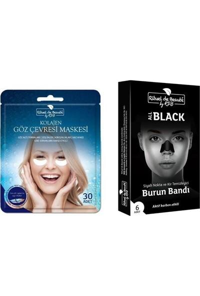 Rituel de Beaute Aktif Karbon Burun Bandı & Kolajen Göz Maskesi