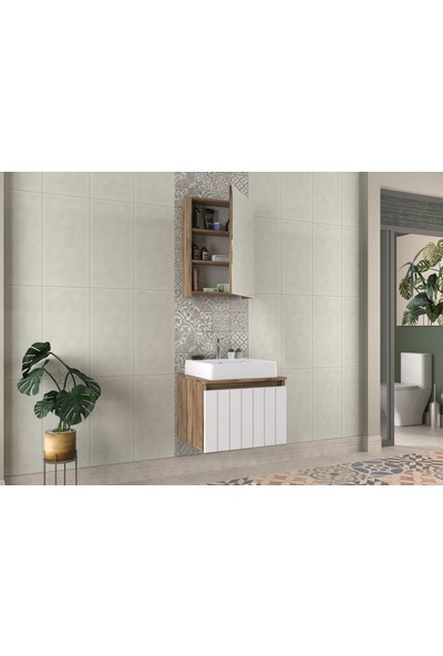 Biani Nevada 60cm Beyaz Banyo Dolabı