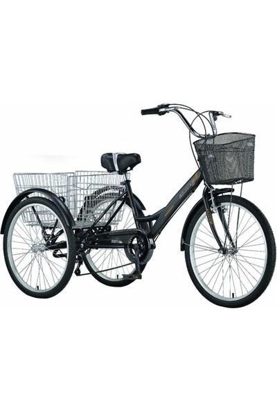 Ümit Cargo 24 Bisiklet Üç Teker Ümit Bisiklet (Siyah)