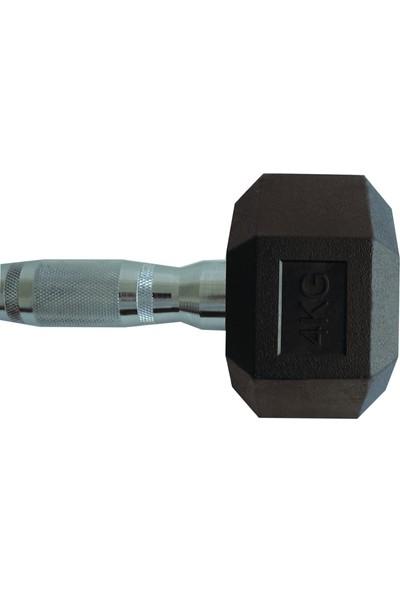 Power Hex 4 kg Kauçuk Dambıl