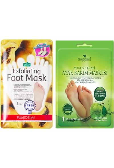 Rituel de Beaute Yoğun Terapi Ayak Bakım Maskesi + Purederm Peeling Etkili Ayak Maskesi Özel 2'li Set