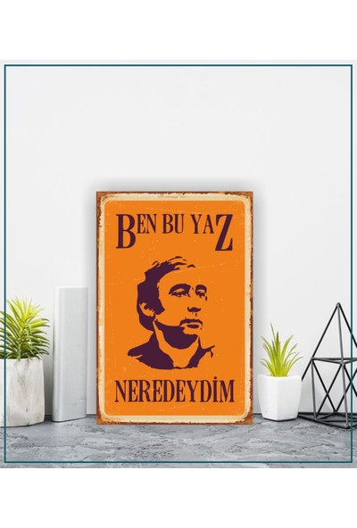 Kttech Retro Vintage Yüksek Kalite Ahşap Poster 20X30 cm