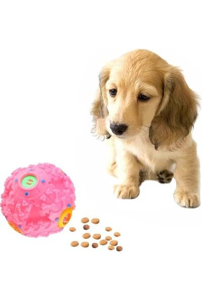 Bobo Köpekler Için Plastik Sert Top Gumi Sesli 8 cm Pembe