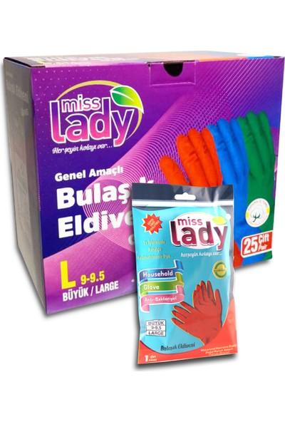 Miss Lady Bulaşık Eldiveni 9-9,5 X25 Çift