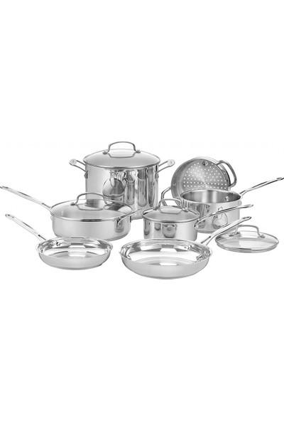 Cuisinart Klasik Paslanmaz Çelik 11 Parça Tencere Seti-Gümüş