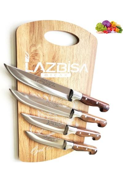 Lazbisa Sürmene Mutfak Bıçak Seti Et Ekmek Sebze Meyve Bıçak