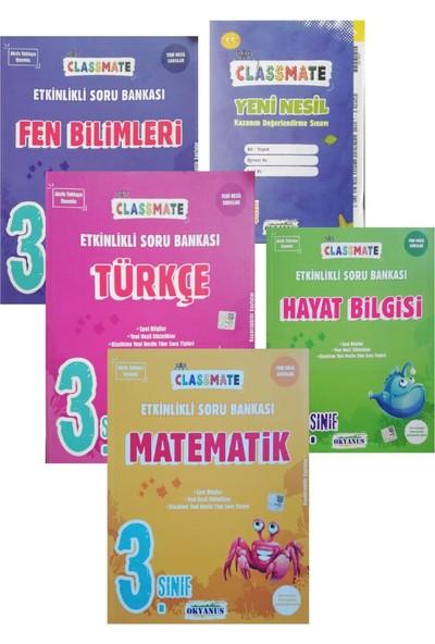 Okyanus Yayınları 3. Sınıf Classmate Matematik - Türkçe - Fen Bilgisi - Hayat Bilgisi Soru Bankası + Hayat Bilgisi Soru Bankası ve Deneme