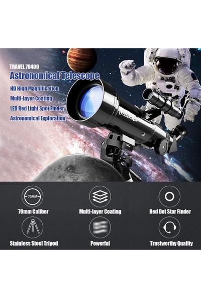 Celestron Astronomik Teleskop TRAVEL70400 Çok Katmanlı (Yurt Dışından)