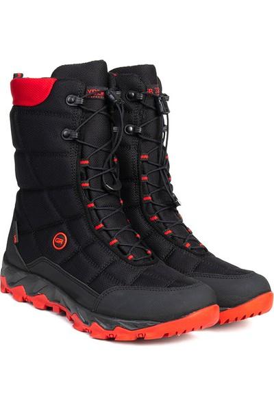 Greyder 00172 gr Kadın Su Geçirmez Çizme Siyah Kırmızı 36-40