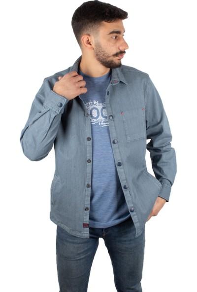 Qwerty Overshırt Çıt Çıtlı Gömlek