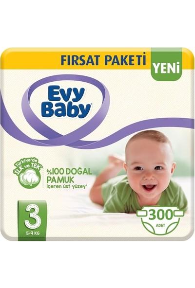 Evy Baby 3 Numara Bebek Bezi 5-9 kg Midi Ultra Fırsat Paketi 300'LÜ