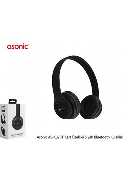 Asonic AS-K02 Bluetooth Kablosuz Kulaklık Siyah