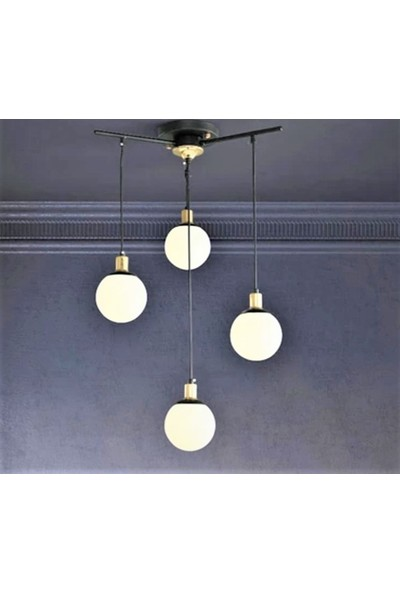 Belezza Lighting Siyah Sarkıt 4 Lü Modern Avize