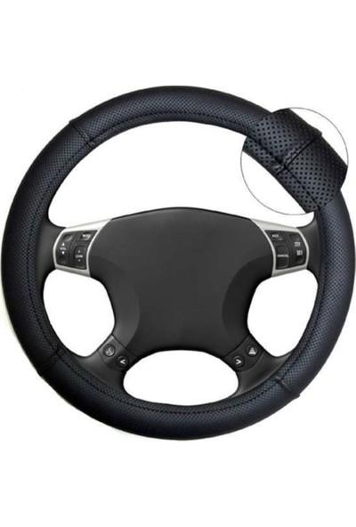 Gardenauto Opel İnsignia 2009-2016 Geçmeli Direksiyon Kılıfı Noktalı Siyah Kokusuz