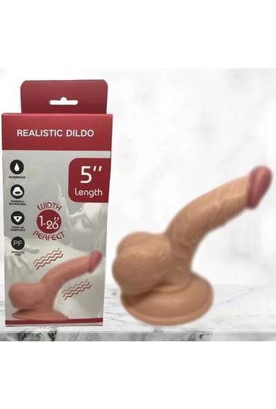 Ero Life 13 cm Gerçekçi Vantuzlu Realistik Penis Anal Vajinal Dildo