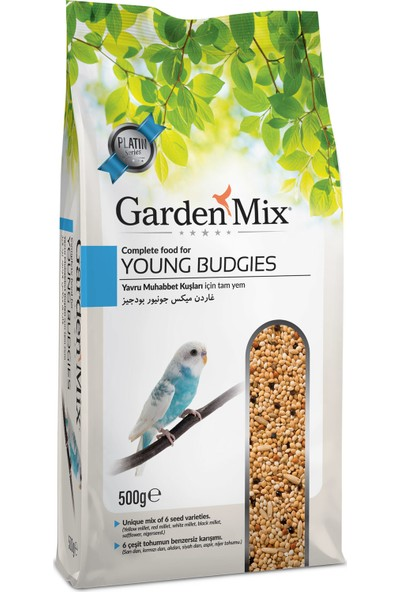 Garden Mix Platin Yavru Muhabbet Kuş Yemi 500 gr