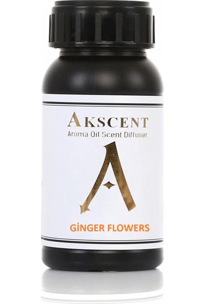 Akscent Tüm Koku Makinelerine Uyumlu Koku Makinesi Esansı Ginger Flowers 100 ml