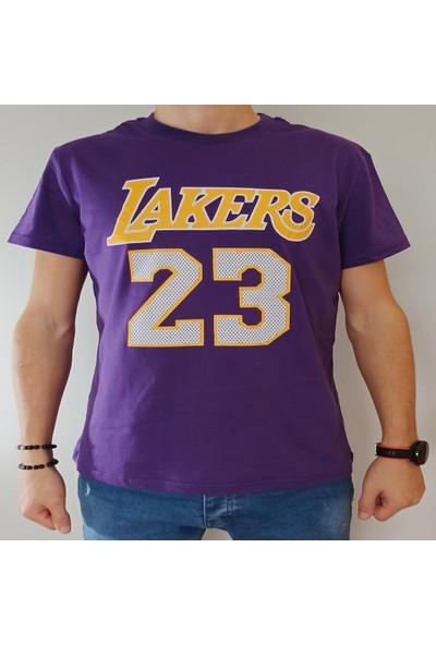 Ysk Giyim Lakers Mor T-Shirt