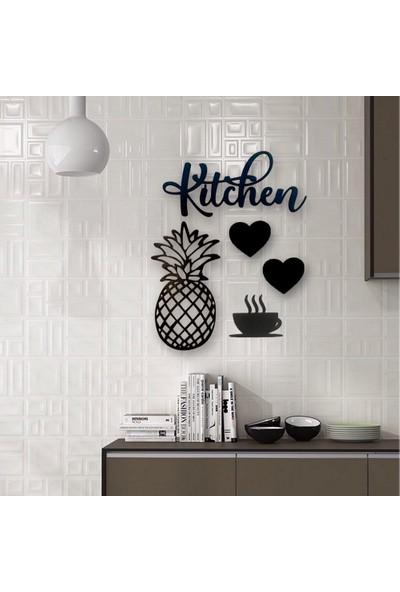 "Lazeratölye Dekoratif Kitchen Mutfak Süsü ""siyah"" 2"