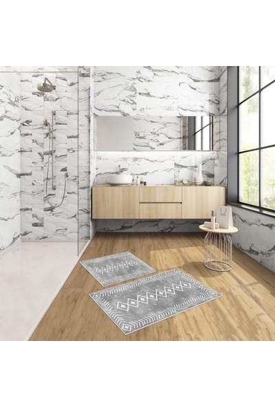 West Home Dijital Baskı Yıkanabilir Kaymaz Taban Salon Halısı Mutfak Halısı Yolluk ve Banyo Paspası