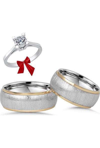 Alyansevi̇m Tasarım Çift Gümüş Alyans