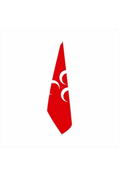 Bayrakal Kırmızı Üç Hilal Telalı Makam Bayrağı Simsiz