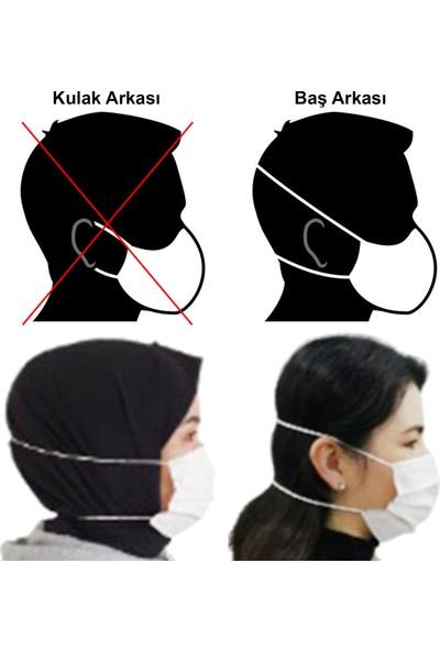Egemod Baş Arkası Lastikli Meltblown Filtreli Üts Kayıtlı Beyaz Maske 200 Adet