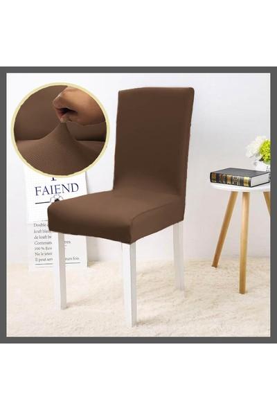 F Faiend Balpeteği Desen Likra Kumaşlı Tüylenmez Yikanabilir Sandalye Örtüsü Sandalye Kılıfı Yeni Model Tekli Balpeteği