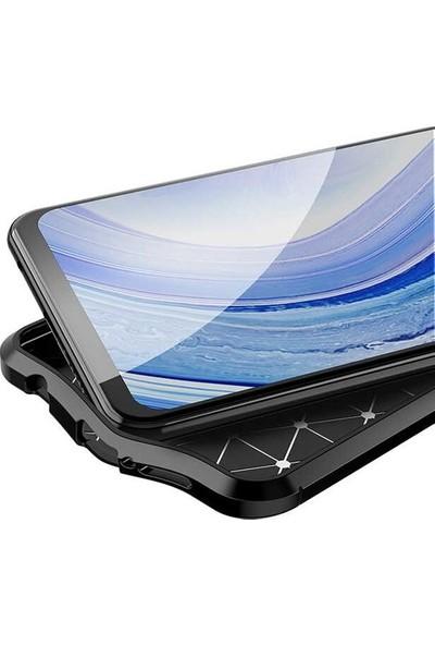 CepArea Huawei P Smart S (Y8P) Kılıf Deri Desenli Lux Niss Silikon Kapak + Koruyucu Cam Lacivert