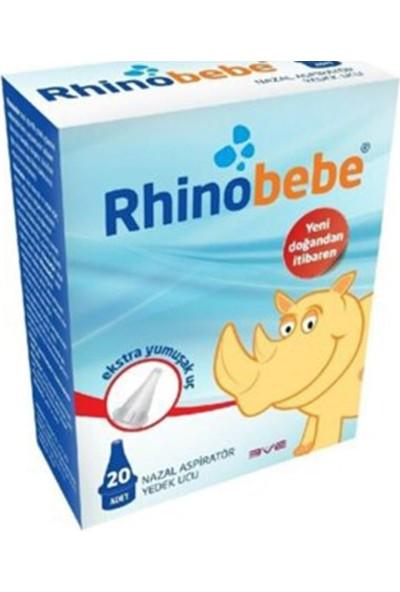 Rhino Bebe Ekstra Yumuşak Nazal Aspiratör Yedek Ucu 20 Adet
