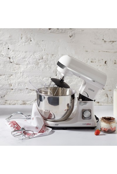 Cookplus Quick Chef 1001 Stand Mikser 1000W Mutfak Şefi Cream