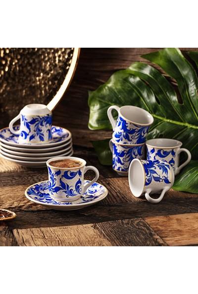 Karaca Apricot Beylik 6 Kişilik Kahve Fincan Takımı