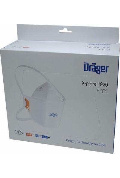 Drager Alman DRAGER1920V Comfort&fit 10ADET N95 Maske Ffp2 Yüksek Kalite