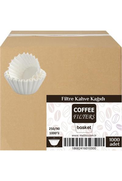 Coffee Filters 250/90 Basket Filtre Kahve Kağıdı 1000'LI