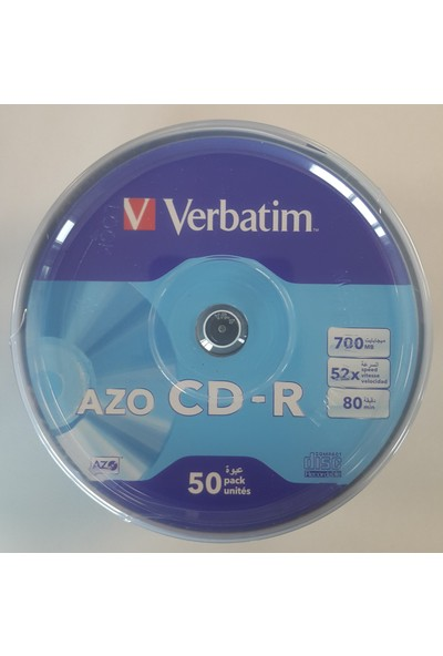 Verbatim Cd-R 50Lİ Azo 700MB 52X 80MIN (069726-02)