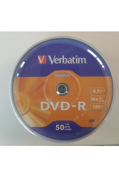 Verbatim Dvd-R 50Lİ Datalife 4,7gb 16X 120MIN (069724-02)