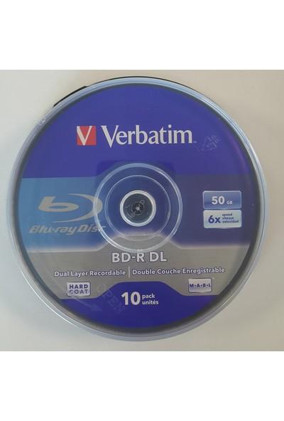 Verbatim Bd-R Dl 10LU Blu-Ray 50GB 6x