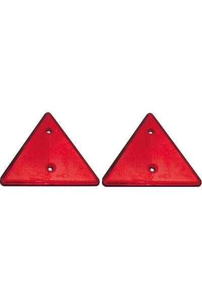Safir Üçgen Küçük Reflektör 8x8x8 cm - 2 Adet