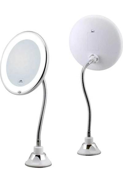Kanguru Sepeti 10 Kat Görüntü Büyüten LED Işıklı Pratik Makyaj ve Traş Büyüteç Aynası